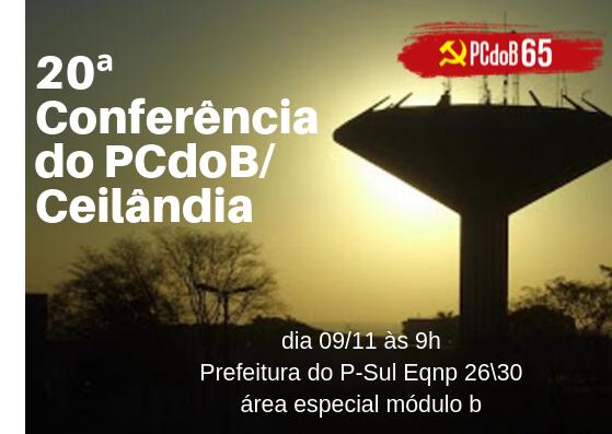 Edital de Convocação da Conferência do PCdoB/Ceilândia