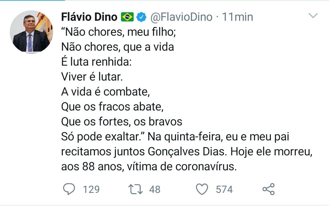 Solidariedade ao camarada Flávio Dino